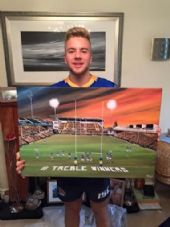Leeds Rhinos Treble Winners Celebration  Canvas  20'' x 30'' Box Canvas Print